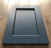 Kitchen Cabinet Refacing -dark blue shaker maple kitchen door