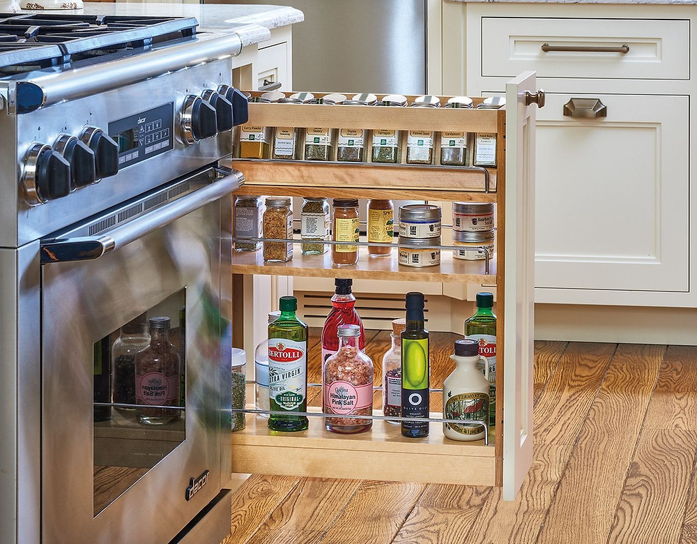spice rack for kitchen cabinets