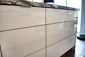 high-gloss kitchen cabinet