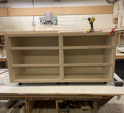 face frame cabinet at the shop