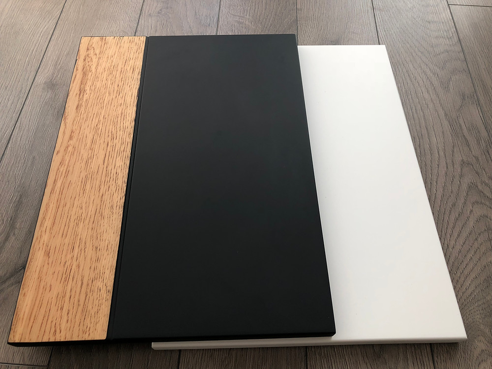 Matt kitchen cabinets   - wood and paint combination
