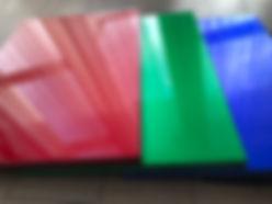 Kitchen Cabinet Refacing - high-gloss  red green blue doors