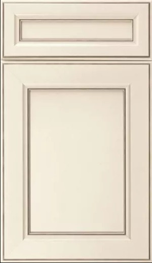 high-end custom kitchen cabinets - beige mdf doors and dwares