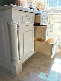 Custom kitchen cabinet accesories - solid maple drawer fo a high-end kitchen