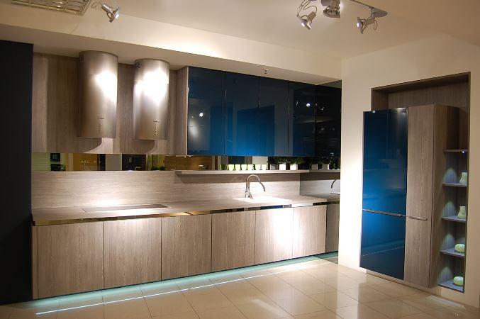 modern brown custom kitchen cabinets
