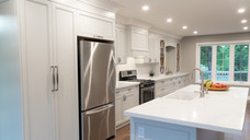 Grey painted Custom Kitchen Cabinets