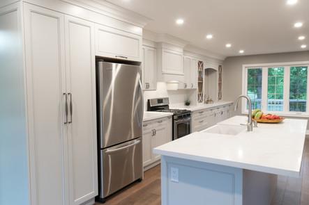 Grey shaker style  custom kitchen cabinets