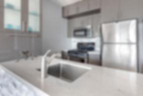 Custom Quartz Countertops - caesarstone london grey color
