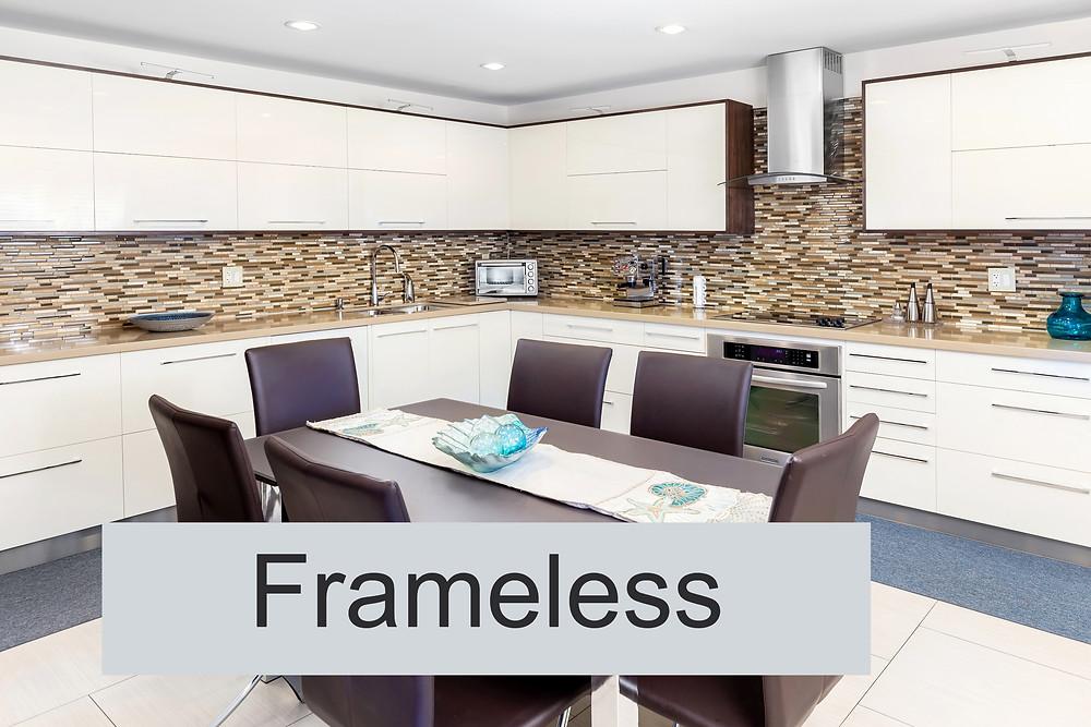 Modern frame-less kitchen cabinets