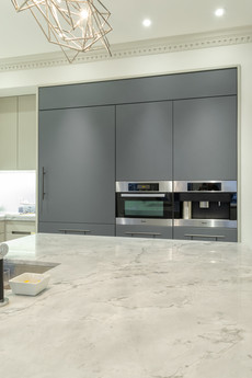 Kitchen cabinets with fenix doors