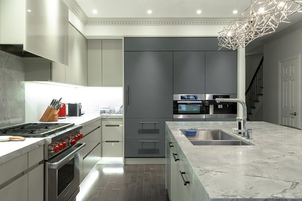 matte kitchen cabinets