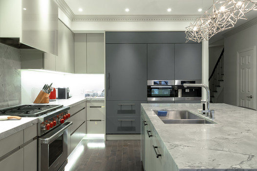 Kitchen renovation with fenix in Toronto