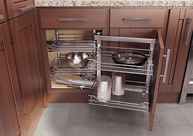 Custom kitchen cabinet accesories - nice magic corner for a base cabinet