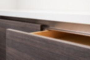 white and brown modern kitchen cabinet