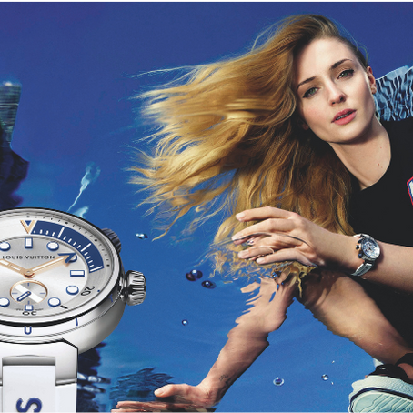 Louis Vuitton Launches Tambour Street Diver Watch with Sophie Turner