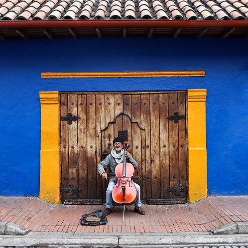 Man Playing the Cello, Bogotá, Colombia