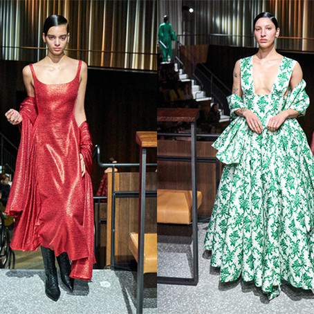 Emilia Wickstead's Art Deco LFW Runway