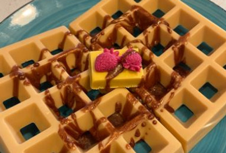Waffles with Butter & Strawberries - Handcrafted Soap