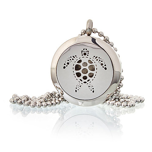 Aromatherapy Diffuser Necklace - Turtle 25mm