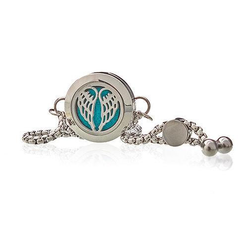 Aromatherapy Jewellery Chain Bracelet - Angel Wings - 20mm