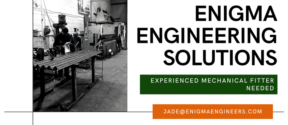 WE'RE HIRING: MECHANICAL FITTER WANTED!