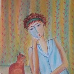 Louna et son chat