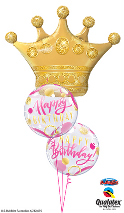 Pink & Gold Birthday Crown