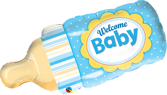 WELCOME BABY BOTTLE BLUE