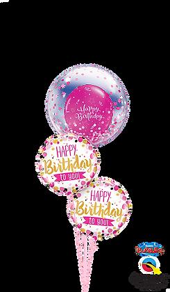 Pink & Gold Confetti Birthday Bouquet
