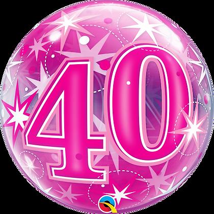 40 PINK STARBURST SPARKLE