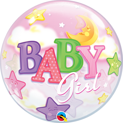 BABY GIRL MOON & STARS