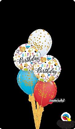 Glitter Birthday Dots