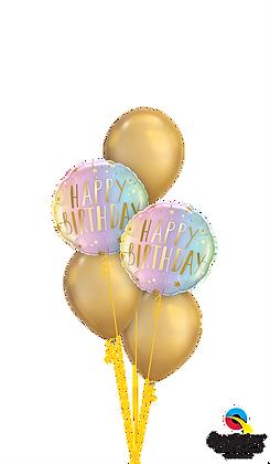 Shiny Neon & Gold Birthday