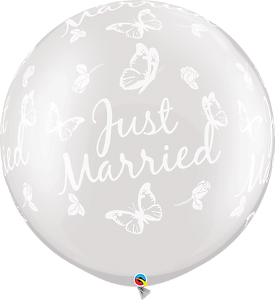 JUST MARRIED BUTTERFLIES-A-RND