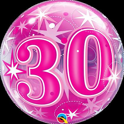 30 PINK STARBURST SPARKLE