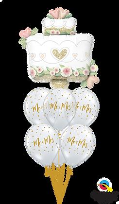 Mr. & Mrs. Glittering Wedding Cake