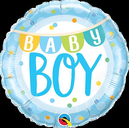 BABY BOY BANNER & DOTS