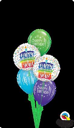 Rainbow Cake & Candles Birthday