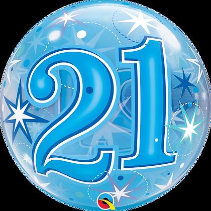21 BLUE STARBURST SPARKLE