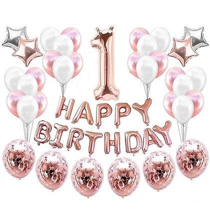 1st Birthday Balloon Set