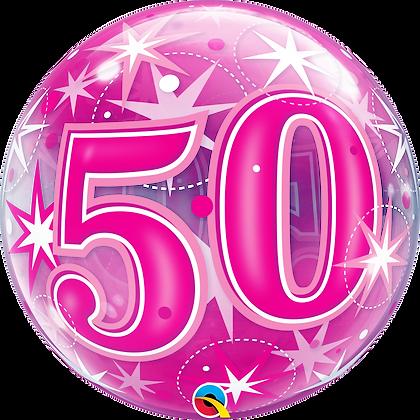 50 PINK STARBURST SPARKLE