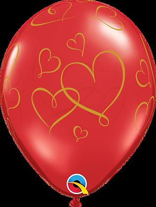 ROMANTIC HEARTS (GLD)