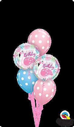 Polka Dots & Pink Flamingos