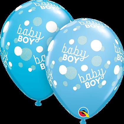 BABY BOY BLUE DOTS-A-RND