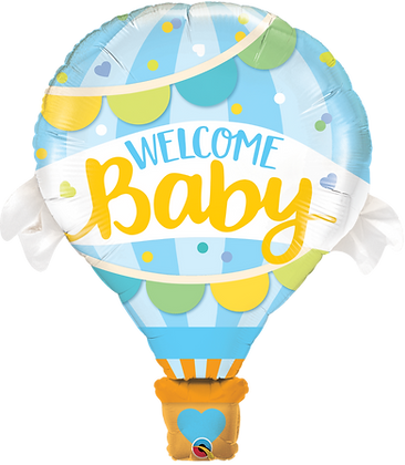 WELCOME BABY BLUE BALLOON