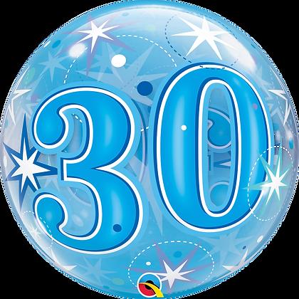 30 BLUE STARBURST SPARKLE