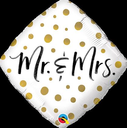 MR. & MRS. GOLD DOTS