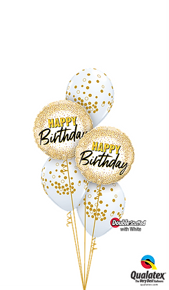 Glittering & Glimmering Gold Birthday Table Topper