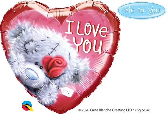 MTY-TATTY TEDDY I LOVE YOU