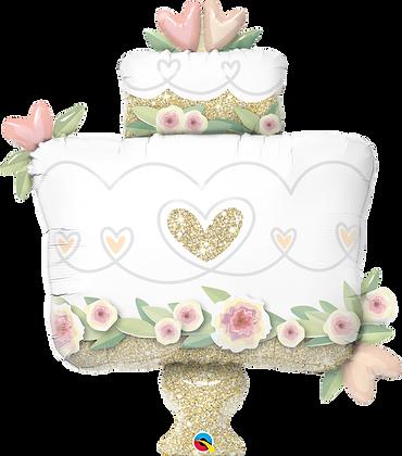 GLITTER GOLD WEDDING CAKE